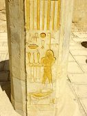 Ancient Egypt Inscriptions in Hatshepsut's Temple