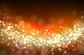 Gold colour bokeh abstract light background. Illustration