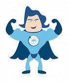 A Tooth Superhero promoting oral hygiene.