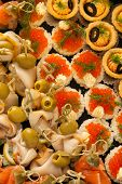 Mini Canape With Different Fish