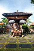 pic of saraswati  - This image shows the Pura Saraswati temple in Ubud - JPG