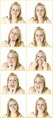Multiple Expressions From Teenage Girl