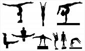 picture of gymnastic  - Gymnastics vectors - JPG