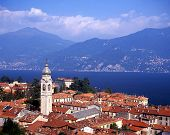 Town rooftops and Lake Como, Menaggio, Italy � Arena Photo UK