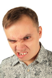 foto of stepmother  - Angry man bites one - JPG