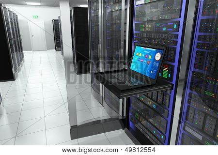 Terminal in server room poster