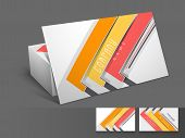 Stylish professional and designer business card set or visiting card set with colorful stripes.