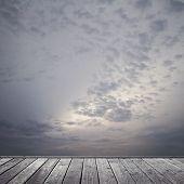 Somber Sky And Floor
