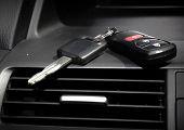 Car keys. Auto dealership concept.