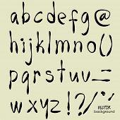 art sketch set of vector character fonts symbols