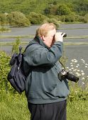 Man Bird Spotting