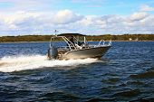 Motor Fast Boat In Baltic Sea Power Boating