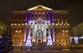 Moscow City Government In Christmas