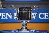 US Open Men singles trophy presented at the 2013 US Open Draw Ceremony