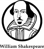 stock photo of william shakespeare  - Vector illustration of English playwright William Shakespeare - JPG