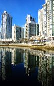 Vancouver Yaletown Neighborhood Marina On False Creek Inlet British Columbia Canada