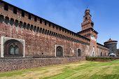 Sforza's Castle In Milan, Italy