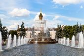 Fountain Stone Flower In Moscow