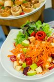 Thai Style Food Spicy Vegetables And Fruits Salad