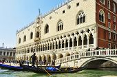 VENICE, ITALY - APRIL 12: Palazzo Ducale from the lagoon on April 12, 2013 in Venice, Italy. Formerl