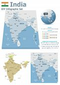 India maps with markers