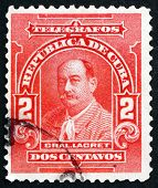 Postage Stamp Cuba 1910 General Lacret, Cuban Patriot