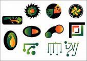 Set Of Abstract Logo