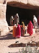 Bedouins At Petra