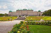 Tourists in the Belvedere Vienna