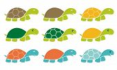 picture of turtle shell  - Smiling Happy Turtle Icon Logo Set in Cartoon Style - JPG