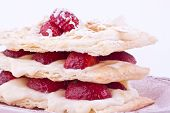 mille feuille of strawberries