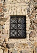 Window Iron Protect Bar Retro Brick Stone House