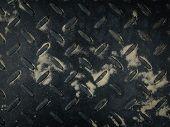 Texture Of Old Black Metal Sheet