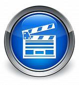Cinema Icon Glossy Blue Button