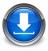 Download Icon Glossy Blue Button