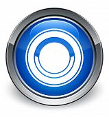 Plate Icon Glossy Blue Button