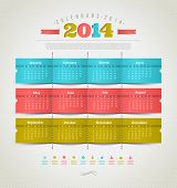 image of august calendar  - Vector template design  - JPG