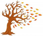 Autumn tree theme image 1 - eps10 vector illustration.