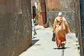Arabian Woman In The Street Of Marrakesh, Morocco