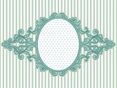 stock photo of oblong  - Illustration of a Vintage Frame with a Baroque Design - JPG