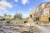 pic of cardo  - A view of the Saint George Maronite Cathedral and the Mohammad Al - JPG