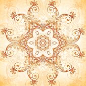 stock photo of mehndi  - Ornate vintage vector seamless pattern in mehndi style - JPG