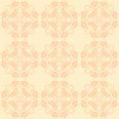 Neutral Floral Ornament. Beige Color
