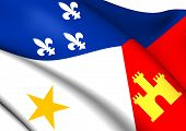 picture of acadian  - Flag of Acadiana - JPG