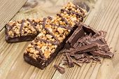 Two Granola Bars With Chocolate