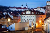 Czech Republic, Prague,  Mala Strana during sunset