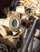 pic of ferrous metal  - A collection of Scrap metal ready for recycling