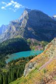 Grinnell Lake and Angel Wing Mountain