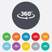 stock photo of degree  - Angle 360 degrees sign icon - JPG