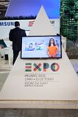 Expo 2015 Logo At Bit 2014, International Tourism Exchange In Milan, Italy